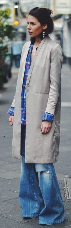 MTWTFSS Beige Long Trench