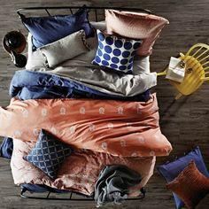 Sari Mango Queen bed quilt cover