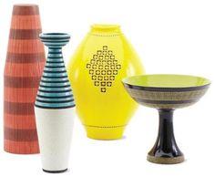 Aldo Londi bowl, bitossi vase, midcenturi, design lab, hous inspir, gorgeous kitchen, lobsters, ceramics, hous project