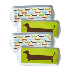 Hot Dog Dessert Tray Set