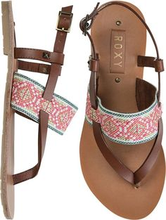womens sandals, swell clothing, embroid sandal, roxy sandals, easy summer style, big easi, roxi sandal, womens footwear, roxy clothing