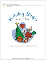 Holiday Bingo Cards (K-4) #Christmas #Hanukkah #Thanksgiving #Halloween #Easter #ValentinesDay #PresidentsDay