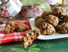 Nutcracker Cookies (substitute butter for coconut oil or pureed fruit, omit brown sugar or add 1/4 c agave nectar)