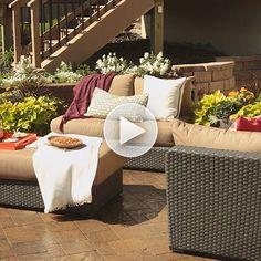 Transform your backyard from basic to beautiful! Watch here: http://www.bhg.com/videos/m/84011554/backyard-patio-ideas.htm?socsrc=bhgpin081314backyardpatioideas