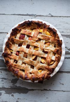 nectarine lattice pie