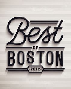 Best of Boston 2012 by Jordan Metcalf, via Behance