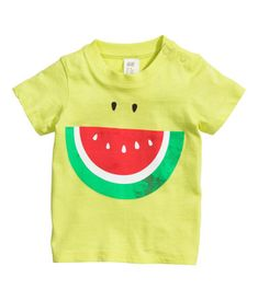 T Shirt with Smiling Watermelon Motif baby 0-24m   H&M US