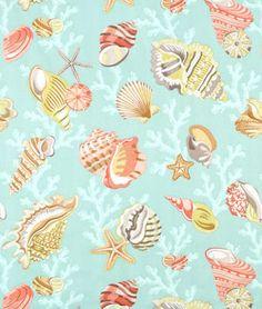 P. Kaufmann Coral Beach Beach Glass Fabric - $16.35 | onlinefabricstore.net