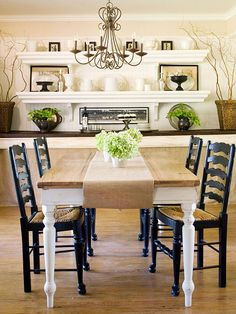 dining room layout and wall decor