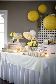 Kentucky Derby Fundraiser dessert table via the Party Press blog