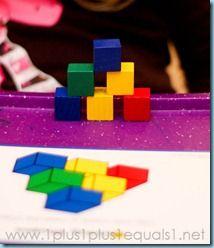 Color Cubes {41 months} #totschool #preschool #tottrays