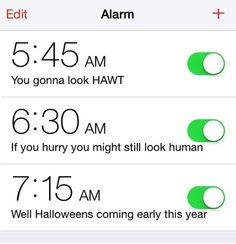 Wake up alarms