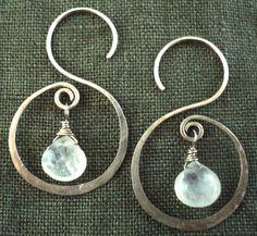 Moonstone 'S' earrings