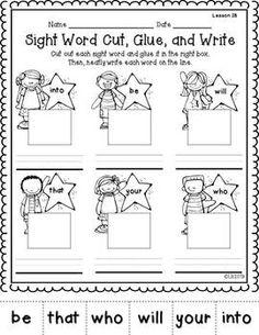 FUN WITH SIGHT WORDS - TeachersPayTeachers.com