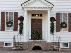 Colonial home decorated...