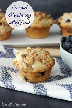 Coconut Blueberry Muffins | beyondfrosting.com |  #muffinmadness