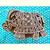 Medium Elephant Wood Block Stamp