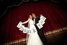 Peabody Opera House Weddings (Main Theater) Photo courtesy of Sal Cincotta -- Cute way to thank guests!