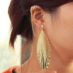 leaf tassel, diamonds, lilyfair jewelri, ears, ear cuffs, tassel ear, diamond leaf, earring, jewelri lilyfairjewelri
