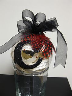 Monogram Wedding Invitation Christmas Ornament