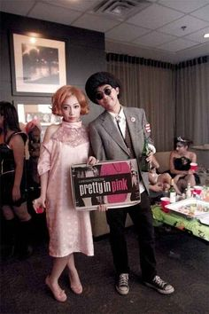 Pretty in Pink costume idea for Halloween or an #80s party: http://www.liketotally80s.com/2013/10/80s-costume-andie-walsh/