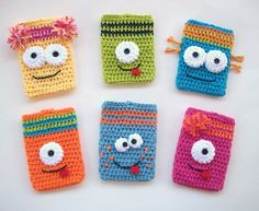 Crochet Monster Kindle Cover, Silly, One Eyed, Alien, Cozy, Kindle Fire, HD 7, Kindle 4, Original