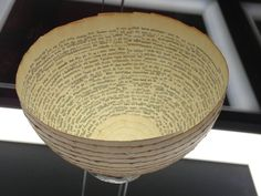 Red by Cecilia Levy - paper bowl made from old book pages, 1963
