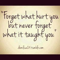 forget & learn