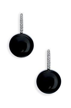 Ivanka Trump 'Black  White' Stone  Diamond Drop Earrings.