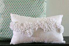 Snow Ruffle Pillow