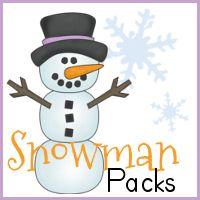 Free Snowman Packs - Tot to 1st Grade