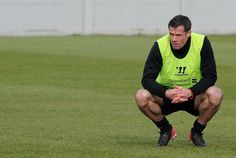Jamie Carragher in one of his final Melwood training sessions (2013)