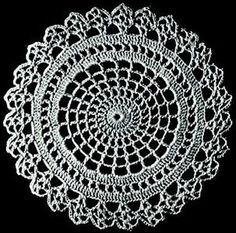 Crocheted doily (free patterns)...this one is so cute***