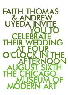 "modern wedding invitations - ""Ombre""."