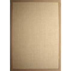 Style Selections 5-ft x 7-ft Rectangular Tan Border Sisal Area Rug