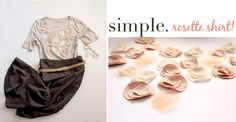 ~Ruffles And Stuff~: Simple Projects Week: Rosette Shirt!
