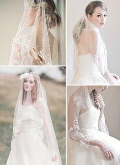 Vintage Lace Veils http://www.rosesandlace.co.uk/vintage-lace-veils-headpieces/