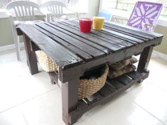 Upcycled pallet table !