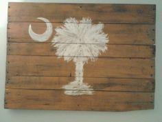 Palmetto tree palette art