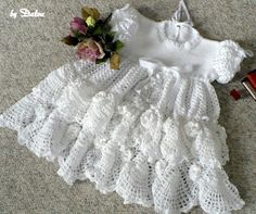 Christening Baby Dress free crochet pattern