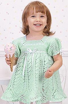 Leisure Arts - Pistachio Baby Dress Crochet Pattern ePattern, $4.99 (http://www.leisurearts.com/products/pistachio-baby-dress-crochet-pattern-digital-download.html)