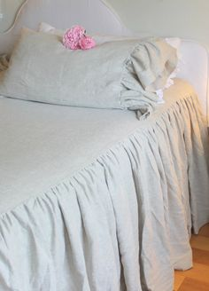 The French Prairie Collection Coverlet in by tickingandtoile, $260.00