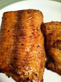Salmon with brown sugar & soy sauce marinade