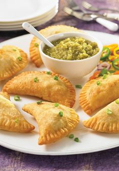 Pork Empanadas with Salsa Verde and All-Butter Pie Dough Recipes