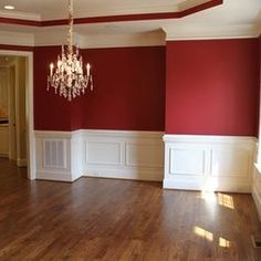 Dining room on pinterest red dining rooms dining rooms for Dining hall wall design