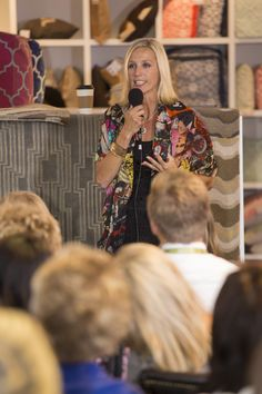 The presentation-  Designing a Room from the Ground Up- at Candice Olson Surya Rug showroom in High Point. #hpmkt #surya