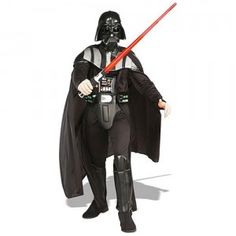 The Star Wars Darth Vader Adult Costume comes with a jumpsuit with molded EVA collar, a chest piece, a belt, boot tops, and a mask.