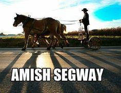 Amish Segway.