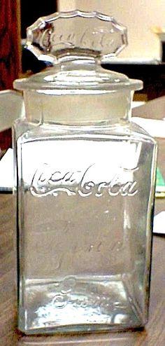 Coca-Cola Glass Jar w/Lid