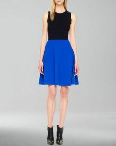 MICHAEL KORS Two-Tone A-Line Dress